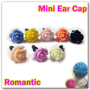 Rose-Flower-Cute-Headset-Dust-Ear-Cap-Plug-For-iPhone-4G-4S-iPad-iPod