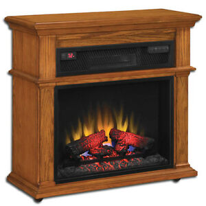 Duraflame Powerheat Infrared Electric Fireplace Heater Oak Ebay