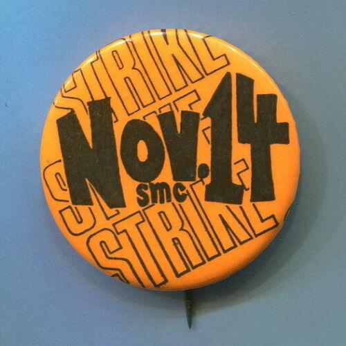 Nov. 14, 1969  Anti Vietnam War Student Strike Moratorium SMC Protest  Orang Pin
