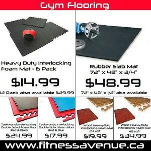 Heavy-Duty Rubber Gym Flooring – Brand New