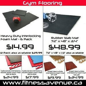 Heavy-Duty Rubber Gym Flooring - Brand New