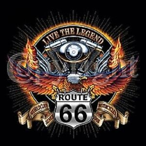 V-TWIN-LEGEND-ROUTE-66-MENS-BIKER-RIDER-POCKET-TEE-T-SHIRT-BLACK-M-TO-4X