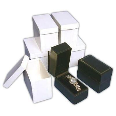 6 Faux Black Leather Watch Bangle Bracelet Boxes