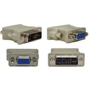 DVI Analog Male to VGA (HD-15) Female Adapter (1 pc - Beige)