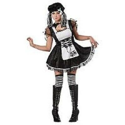 NEW Totally Ghoul Spooky Rag Doll Women Halloween Dress Up Costume Sz: - Spooky Doll Kostüm
