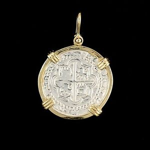 ATOCHA Sunken Treasure Jewelry - PCS of 8 SILVER COIN PENDANT