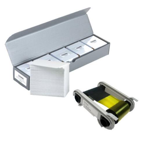 NEW Genuine Evolis R6F003AAA YMCKOK Color Ribbon + 500 PVC Cards - KIT-R6F003AAA