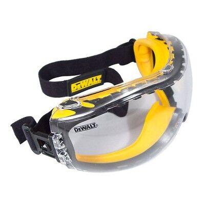 DeWalt Safety Glasses Goggles Concealer Clear AF Lens