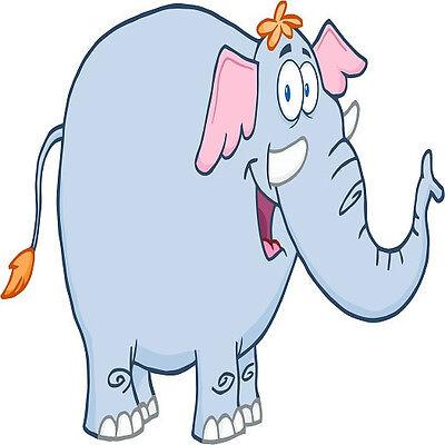 30 Custom Happy Elephant Personalized Address Labels Elephant Address Label