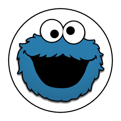 Cookie Monster Party (108 COOKIE MONSTER FACE Hershey Kiss Envelope Stickers Party Favors Labels)