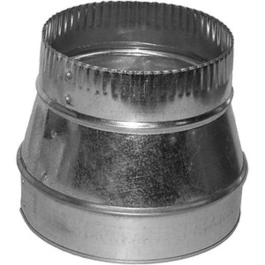 """6x4 Round Duct Reducer 6"""" to 4"""" Adapter"""