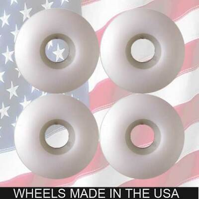 BLANK 50mm White Skateboard WHEELS.. FREE SHIP 50 Mm Skateboard Wheels