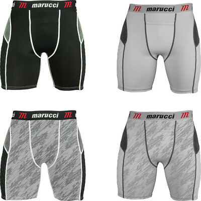 Sliding Pad Short - Marucci Youth Padded Baseball Sliding Short with Cup Slider Shorts with Padding