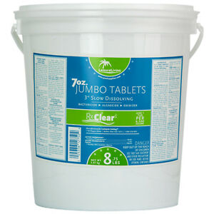 3 034 Strongest 99 Trichlor Stabilized Chlorine Swimming Pool Tablets 50 Lb Bucket Ebay