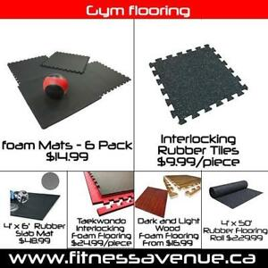 Heavy-Duty Rubber Gym Flooring  Brand New