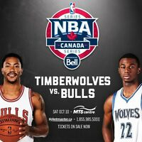2 Tickets to Bulls vs Timberwolves game