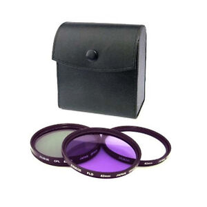 Zeikos 40.5mm  Multi Coated 3pc Filter Kit: UV+ CPL+ FLD