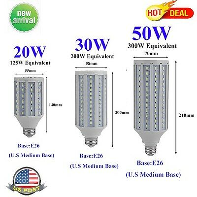 (20W 30W 50W E26 110V 5730SMD LED Corn Light Bulb Lamp Cool Daylight White LOT)