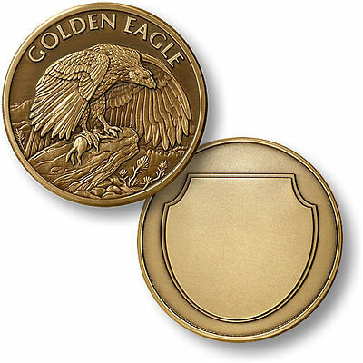 Golden Eagle Challenge Coin Wildlife Token Bronze Bird US United States 1-7/8""