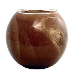 Northern lights candle esque chocolate brown 4 inch globe mysteria