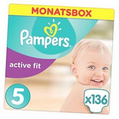 Pampers Premium Protection Active Fit Junior 136 1123kg Gr5 Monatsbo Babywindeln