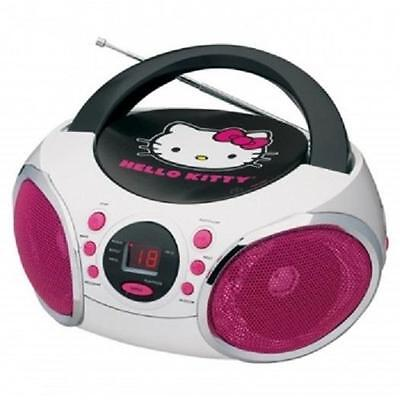 Hello Kitty Newhello Kittyportable Stereo Boombox Cd Play...