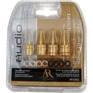 Acoustic Research High-Grade Gold Plated Speaker Pin Connectors