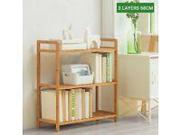Bookshelf Bamboo 3 layers Shelf Bookcase