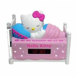 NEW*HELLO KITTY Sleeping Kitty*Girl's ALARM CLOCK AM/FM RADIO*with NIGHT LIGHT