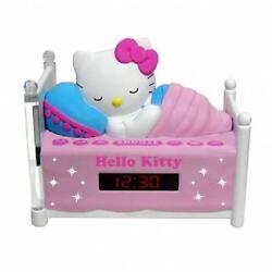 HELLO KITTY Sleeping Kitty*ALARM CLOCK AM/FM RADIO*with NIGHT LIGHT,Snooze,Sleep