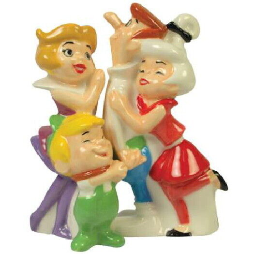 The Jetsons TV Series Family Group Figures Ceramic Salt and Pepper Set NEW
