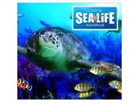 Sealife aquarium tickets London 27th February 2018 x2