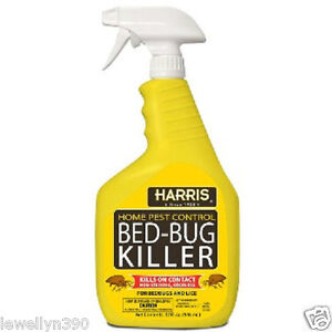 Harris Bed Bug Spray HARRIS HBB-32 BED BUG PEST KILLER SPRAY 32OZ READY TO USE ...