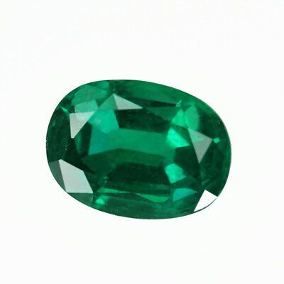 Certified 1.35 ct Zambia Natural Emerald Oval ~ 8x6 mm Loose Gemstone 231_VIDEO