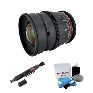 Rokinon 24mm T1.5 Cine ED UMC Wide Angle Lens For Canon EOS Video DSLR  CV24M-C