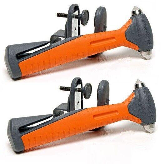 2X Größer Nothammer Gurtschneider Notfallhammer LIFEHAMMER +Halterung