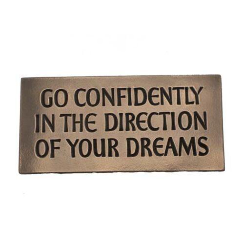 IRISH Bronze Go Confidently in the Direction of your  Dreams Wild Goose Studio