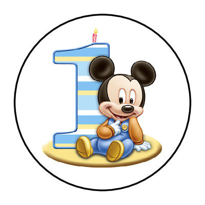 30 Baby Mickey Mouse 1st Birthday Party Favors Themed Treat Bag Stickers Labels](Mickey Mouse Birthday Theme)