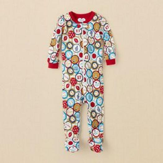THE CHILDREN'S PLACE 1PC SPORTS BOY FOOTED STRETCHIE SLEEPER