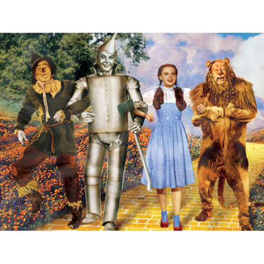 "WIZARD OF OZ ""BEST FRIENDS"" Canvas Artwork 6 x 8 Size - Westland Item 17250!"