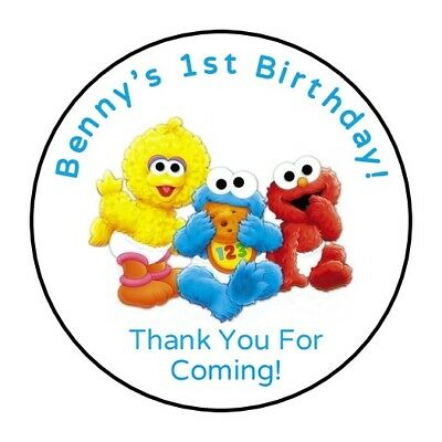 30 Baby Sesame Street Personalized Birthday party stickers,labels,favors elmo](Baby Elmo Party Supplies)