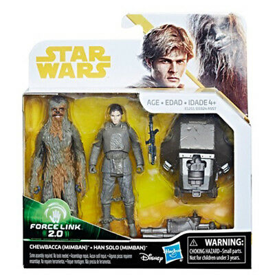Star Wars Han Solo & Chewbacca Mimban Force Link 2.0 Action Figure 2-Pack - Han Solo Gun