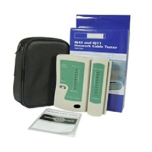 RJ45 and RJ11 Network Cable Tester with Case