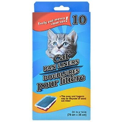 (Cat Pan/Litter Box Liner Bags, Two 10-ct. Boxes 20 total Free Shipping US Seller)