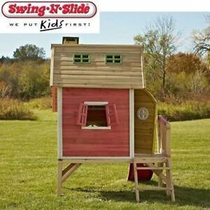 NEW SWING-N-SLIDE PLAYHOUSE PB8150 251382881 HIDE AND SLIDE WOOD OUTDOOR PLAYSET TOY KIDS