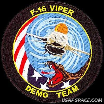 USAF 20th FIGHTER WING - F-16 VIPER DEMONSTRATION TEAM - ORIGINAL VEL PATCH MINT for sale  Fullerton
