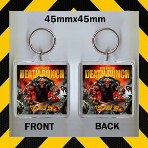 got your six five finger death punch cd cover keyring key chain 45mm x 45. Black Bedroom Furniture Sets. Home Design Ideas