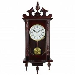 NEW*Bedford*31CHERRY OAK FINISH*Grandfather WALL CLOCK*with PENDULUM & 4 CHIME