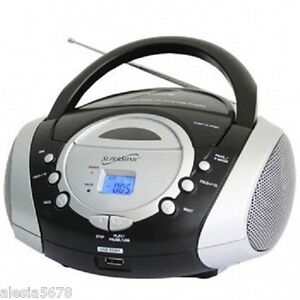 SUPERSONIC PORTABLE AUDIO SYSTEM MP3/CD PLAYER*with USB/AUX INPUTS&AM/FM RADIO