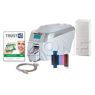 NEW Magicard Rio Pro Duo Dual-Sided ID Card Printer Bundle - 3652-0021-01